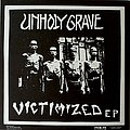 """UNHOLY GRAVE / CHICKENSHIT - Victimized EP / Chickenshit (7"""" split EP)"""