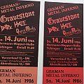 Gravestone old TICKETS 14.06.1986 Tübingen Other Collectable