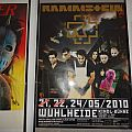 """Rammstein """"Berlin - Wuhlheide 2010"""" concert poster & ticket"""