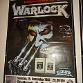 Warlock - Other Collectable - Warlock Tour Poster  1985
