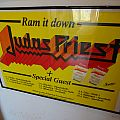 "Judas Priest - Other Collectable - Judas Priest ""Ram it down Tour 1988"" Poster & Tickets"