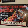 "Judas Priest - Other Collectable - JUDAS PRIEST ""Defenders of the faith Tour 1984"" (Poster & Ticket)"