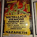Metallica - Other Collectable - Metal Hammer Festival 14.09.1985, Germany (Poster)