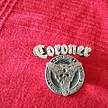 Coroner trio logo metal pin