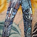 Ghost - stained glass leggings Other Collectable