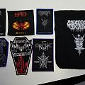 Death metal and Black metal album patches from around