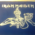 Iron Maiden - Patch - d.i.y. hand painted iron maiden backpatch