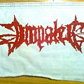 d.i.y. hand painted impaled patch