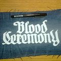 d.i.y. hand painted blood ceremony patch