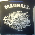 d.i.y. hand painted madball backpatch