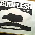 d.i.y. hand painted godflesh backpatch