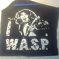 d.i.y. hand painted w.a.s.p. backpatch