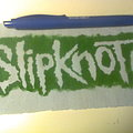 Slipknot - Patch - d.i.y. hand painted slipknot patch