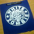 d.i.y. hand painted white zombie patch