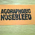 Agoraphobic Nosebleed - Patch - d.i.y. hand painted agoraphobic nosebleed patch