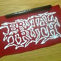 d.i.y. hand painted brutal truth patch