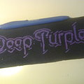 d.i.y. hand painted deep purple patch