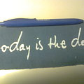 Today Is The Day - Patch - d.i.y. hand painted today is the day patch