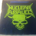 d.i.y. hand painted nuclear assault backpatch