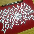 d.i.y. hand painted morbid angel patch