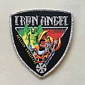 Iron Angel - Hellish Crossfire Shield Patch (silver glitter border)