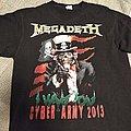 Megadeth Cyber Army 2013 L size TShirt or Longsleeve