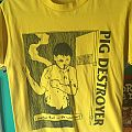 Pig Destroyer yellow tee