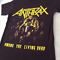 "Anthrax Among the Living ""Dead"" 2 sided S size tshirt"