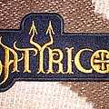 Satyricon old logo patch in yellow