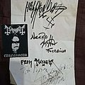 Mayhem autographs + Euronymous sticker