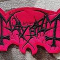 Mayhem black/red logo medium size patch
