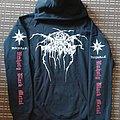 Darkthrone silver logo hoodie