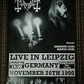 Mayhem 'Live in Leipzig' poster  Other Collectable