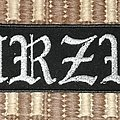 Burzum silver logo patch