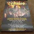 Destruction Australian Tour 2018 Tour Poster Signed