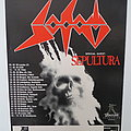 Sodom - Agent Orange Tour with Sepultura 1989 Poster  Other Collectable