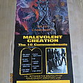 Malevolent Creation - Other Collectable - Malevolent Creation - The Ten Commandments Promo Poster