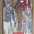 Death - Human Back Patch Blue Grape Merchandise