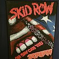Skid row back patch