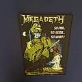 Megadeth So Far So Good So What Back Patch