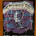 Metallica  ride the lightning back patch
