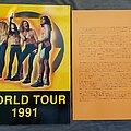 Megadeth - Other Collectable - Megadeth - World Tour 1991 programme