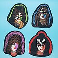 Kiss - Patch - Kiss 4 band member patches