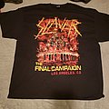 """Slayer """"The Final Campaign"""" Los Angeles event shirt"""