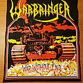"Warbringer ""War Without End"" official backpatch"