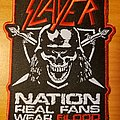 """Slayer Nation """"Real Fans Wear Blood"""" patch"""