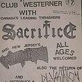 Sacrifice - Other Collectable - Sacrifice flyer