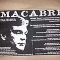 Macabre - Other Collectable - Macabre Dahmer flyer