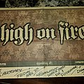 HIGH ON FIRE - Other Collectable - High on Fire tour flyer