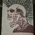 The Exploited - Other Collectable - The Exploited drawing Lets Start a War.....